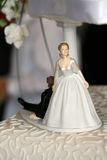 Wedding cake figure Stock Images