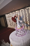 Wedding Cake Figurine Stock Image