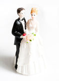 Wedding cake figurines Stock Image