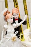 Wedding cake figurines Royalty Free Stock Photography