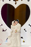 Wedding Cake Figurines Royalty Free Stock Photo