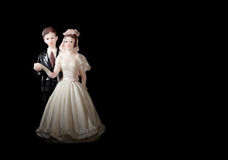 Wedding cake figurines. Royalty Free Stock Images