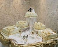 Wedding cake with figurines Stock Image