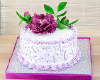 Wedding cake with flower Stock Images