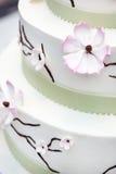 Wedding cake with flowers Stock Image