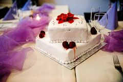 Wedding cake with flowers stock photography