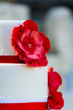 Wedding cake with flowers Royalty Free Stock Image