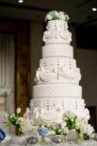 Wedding cake. Food white flower cakes celebration stock photo