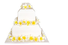Wedding Cake with Frangipani Royalty Free Stock Images