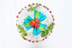 Wedding cake with fruit Royalty Free Stock Photography