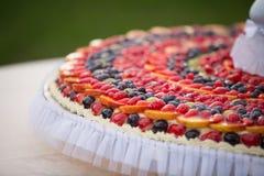 Wedding Cake of Fruits Stock Images