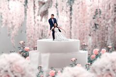 Wedding cake, bride and groom, marriage proposal stock images