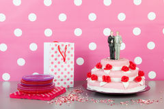 Wedding cake with gay couple Stock Images