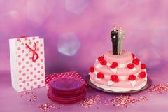 Wedding cake with gay couple Royalty Free Stock Photo