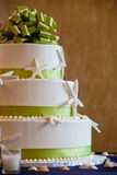 Wedding cake with green Stock Photography