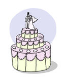 Wedding Cake illustration Royalty Free Stock Image