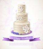Wedding Cake Illustration Stock Images