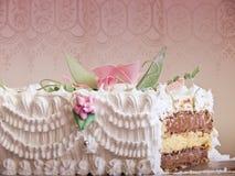 Wedding cake, insade layers Royalty Free Stock Images