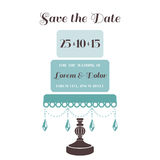 Wedding Cake Invitation Stock Images
