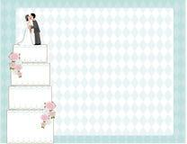 Wedding Cake Invite stock images