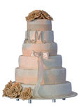 Wedding Cake Isolated On White Background Stock Images