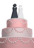 Wedding cake lesbian Stock Image