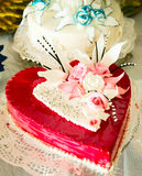 Wedding cake like heart Stock Photo