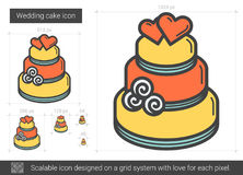 Wedding cake line icon. Stock Photos