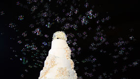 Wedding cake. A lot of bubbles, a lot of love Stock Photos