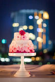 Wedding cake at night Stock Images