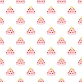 Wedding cake pattern, cartoon style. Wedding cake pattern. Cartoon illustration of wedding cake vector pattern for web Royalty Free Stock Images