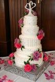Wedding Cake-1. Photo of five layer wedding cake Royalty Free Stock Photo