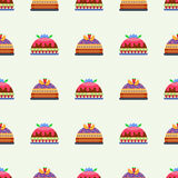 Wedding cake pie sweets dessert bakery flat seamless pattern pastry homemade delicious vector illustration. Wedding cake pie sweets dessert bakery flat seamless Royalty Free Stock Photo
