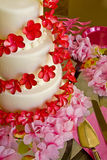 Wedding Cake In Pink and Red stock photos