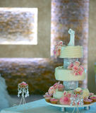White Wedding cake stock photo