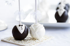 Wedding cake pops royalty free stock photography