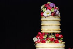 Wedding cake at reception Royalty Free Stock Photo