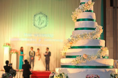 Wedding cake reception Royalty Free Stock Images