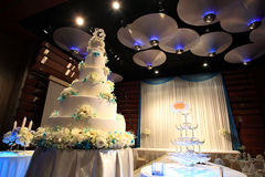Wedding cake reception party royalty free stock images