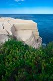Wedding cake rock feature. On the east Australian coast royalty free stock photo