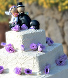 Wedding cake with roses Royalty Free Stock Photography
