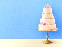 Wedding Cake With Roses Realistic Image Stock Image