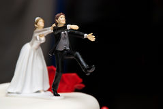 Wedding cake sculpture Stock Photos
