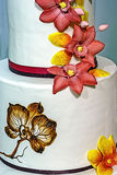 Wedding cake specially decorated.Detail 7 Stock Photos