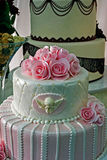 Wedding cake specially decorated.Detail 22 Stock Photo