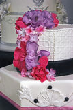 Wedding cake specially decorated.Detail 4 Stock Image