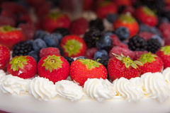 Wedding cake with fruits Royalty Free Stock Photography