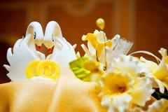 Wedding cake swans Stock Images