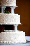 Wedding cake with swirl details Stock Images