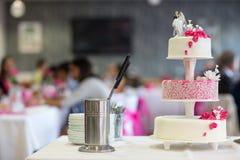 Wedding Cake  on the table Royalty Free Stock Photos